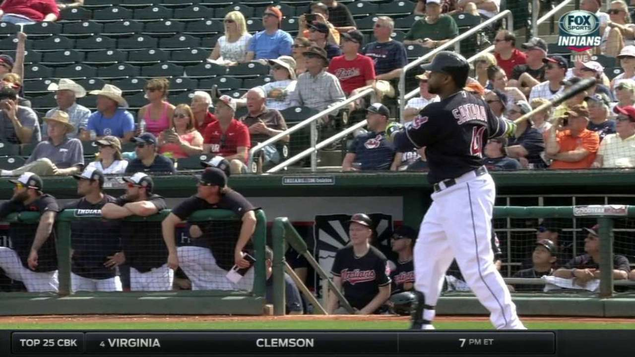 Tribe hoping for consistent pop from Santana