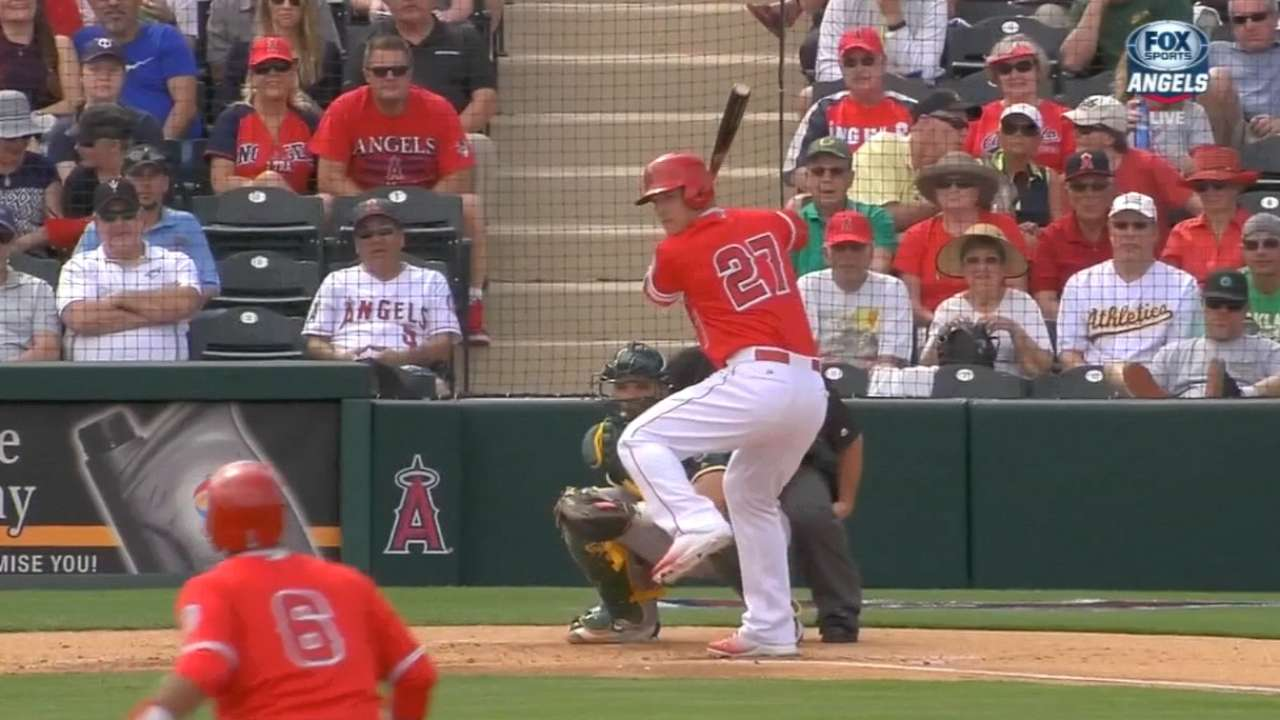 Trout excels in first game action of spring