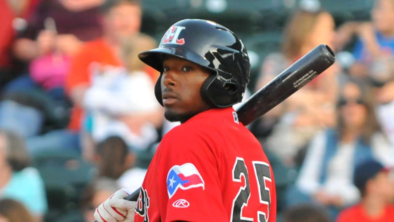 Demeritte, Mendez among top prospect performers Monday