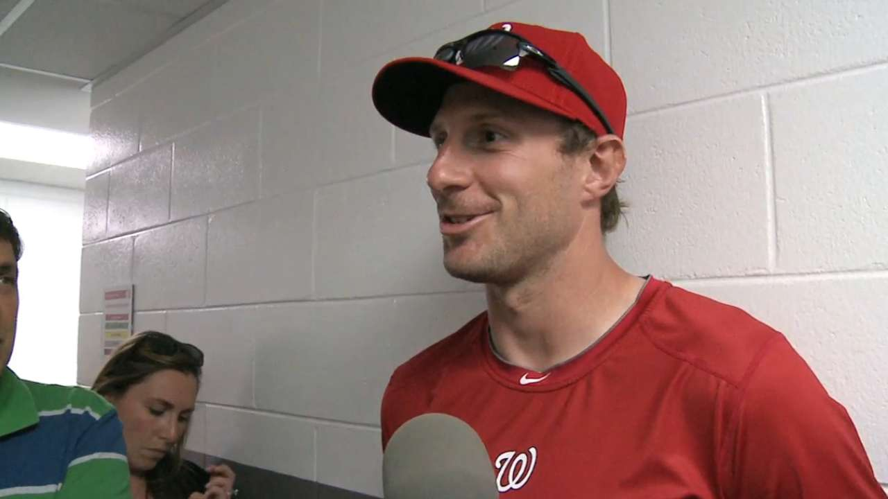 Scherzer makes spring debut
