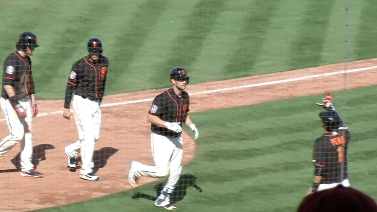 Carter homers as Brewers outslug Giants