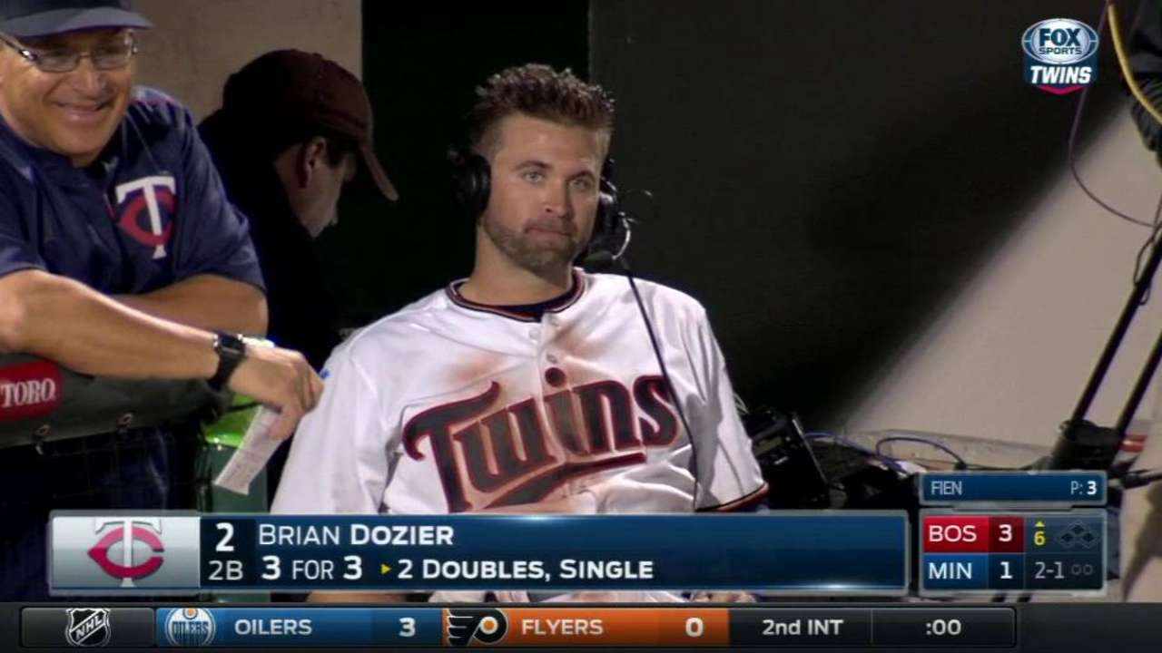 Dozier on three-hit performance