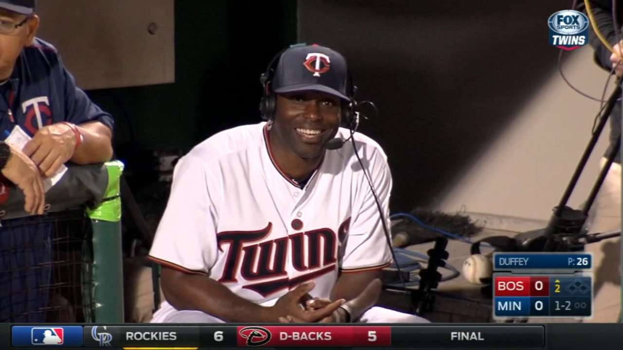 Sano tested in right field during night game