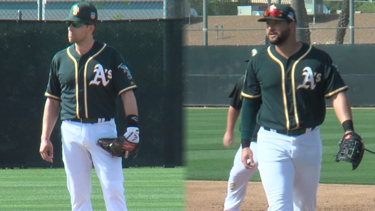 Alonso, Lowrie on joining A's