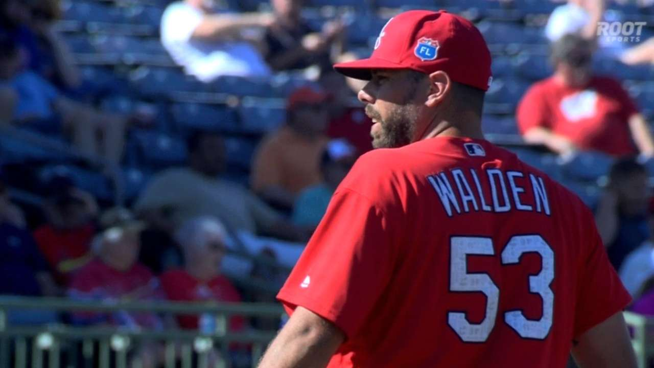 Walden downplays setback after scratched outing
