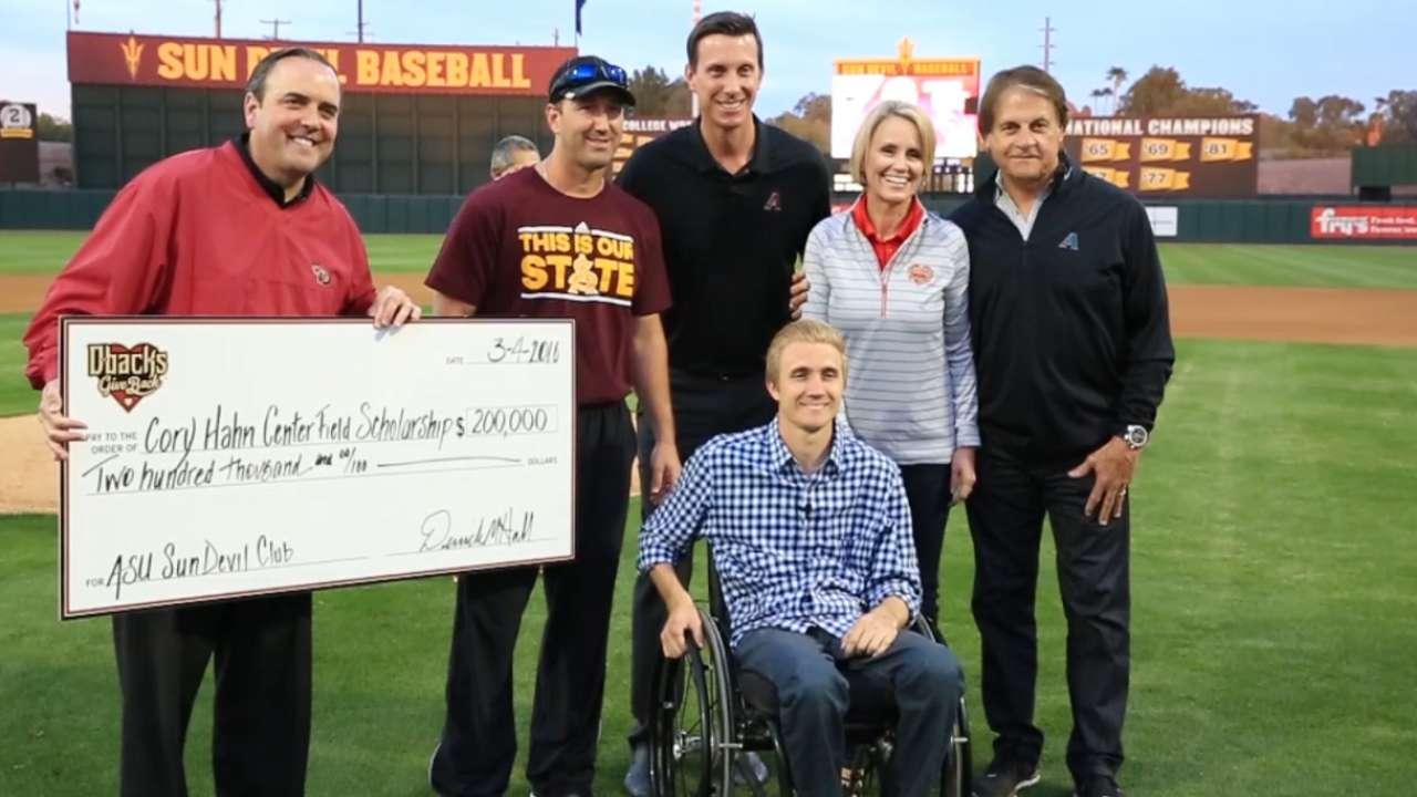 D-backs fund scholarship in Hahn's name
