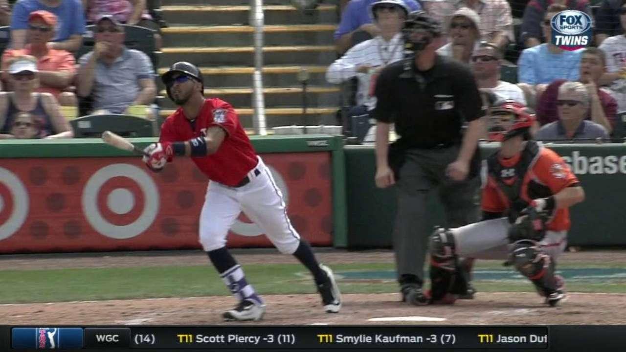 Rosario's solo home run