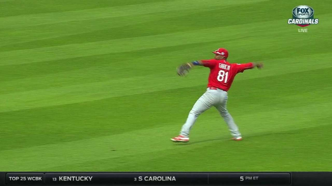 A. Garcia throws out Shoemaker