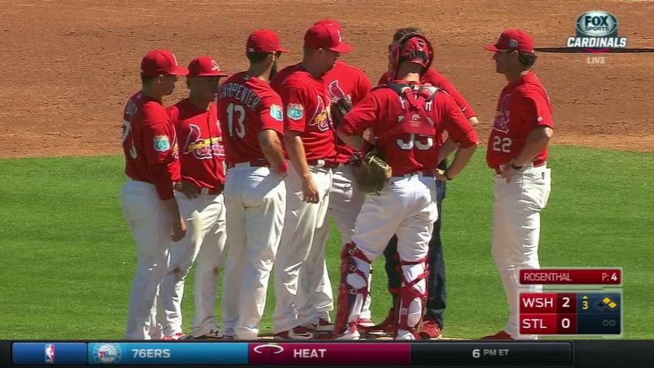 Rosenthal OK after being hit by comebacker