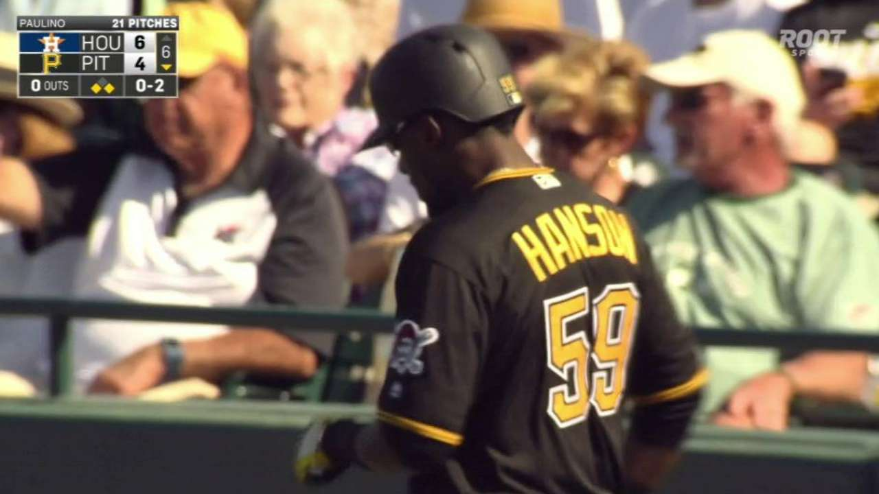 Hanson in mix for roster spot in Kang's absence