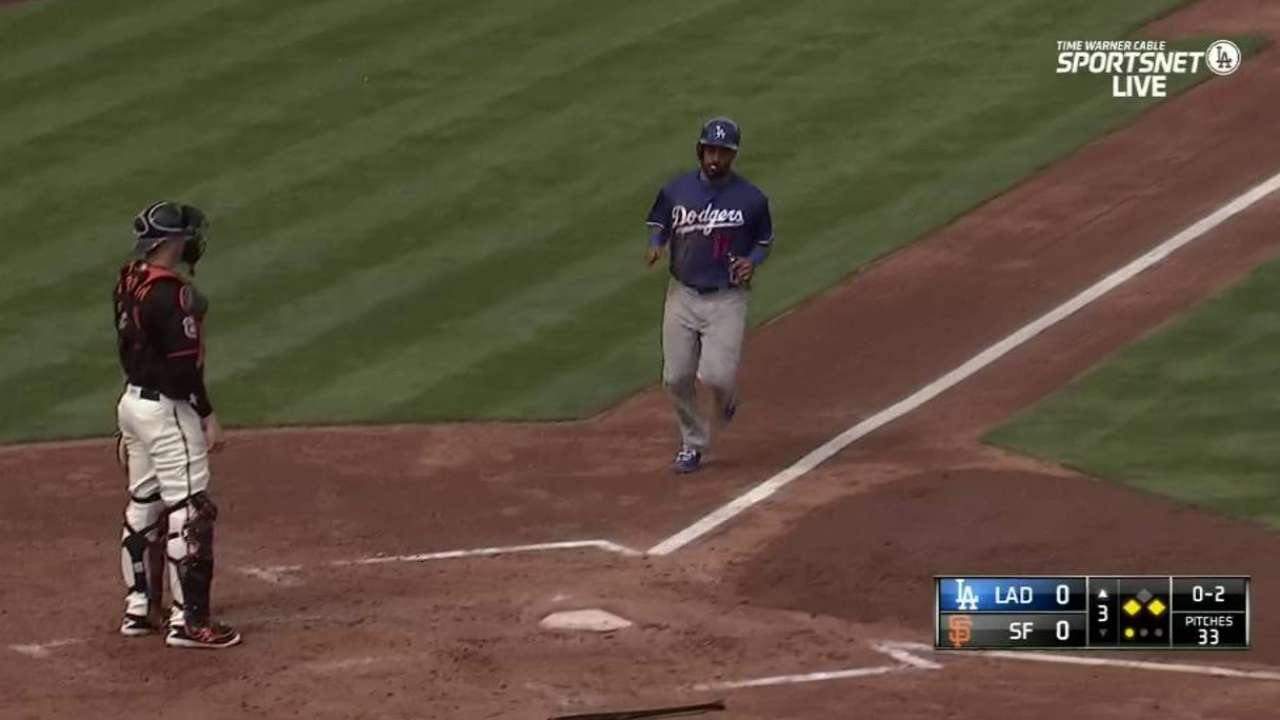 Crawford told he'll back up Ethier in left field