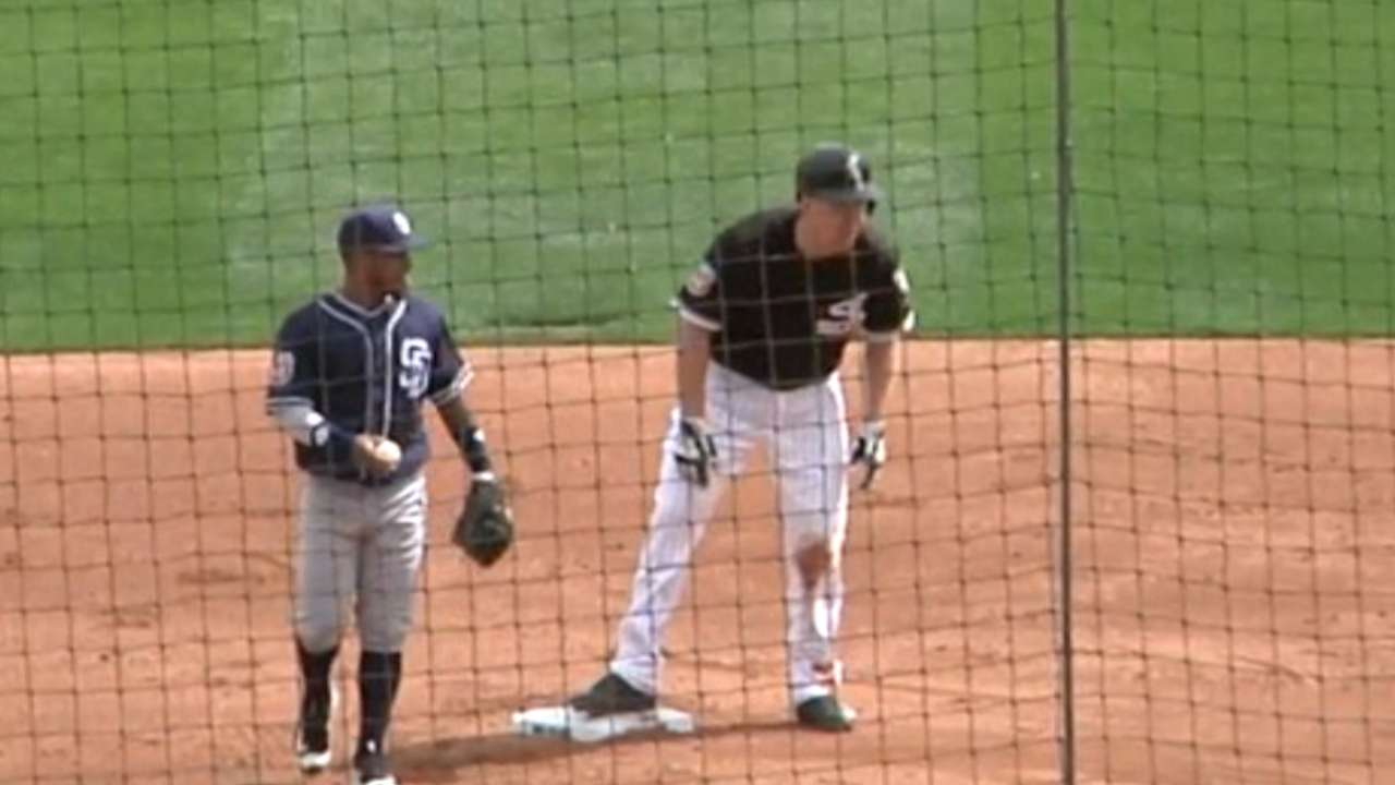 Frazier doubles off the wall