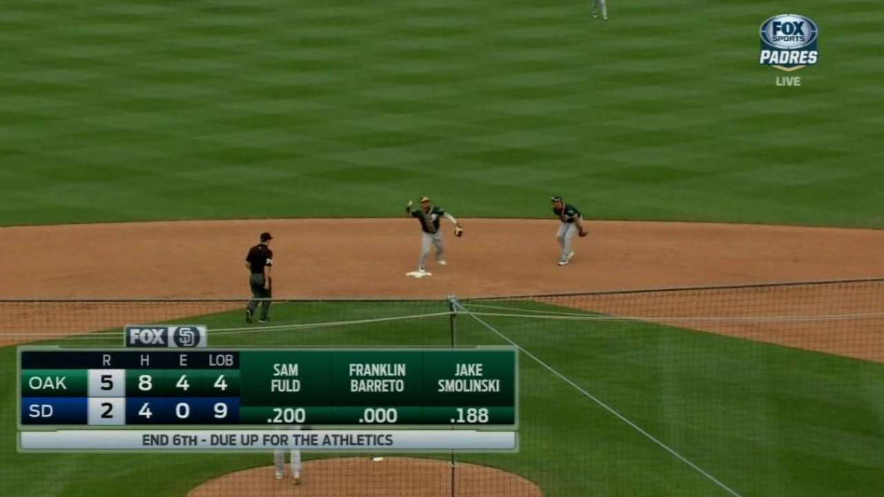 Barreto turns double play