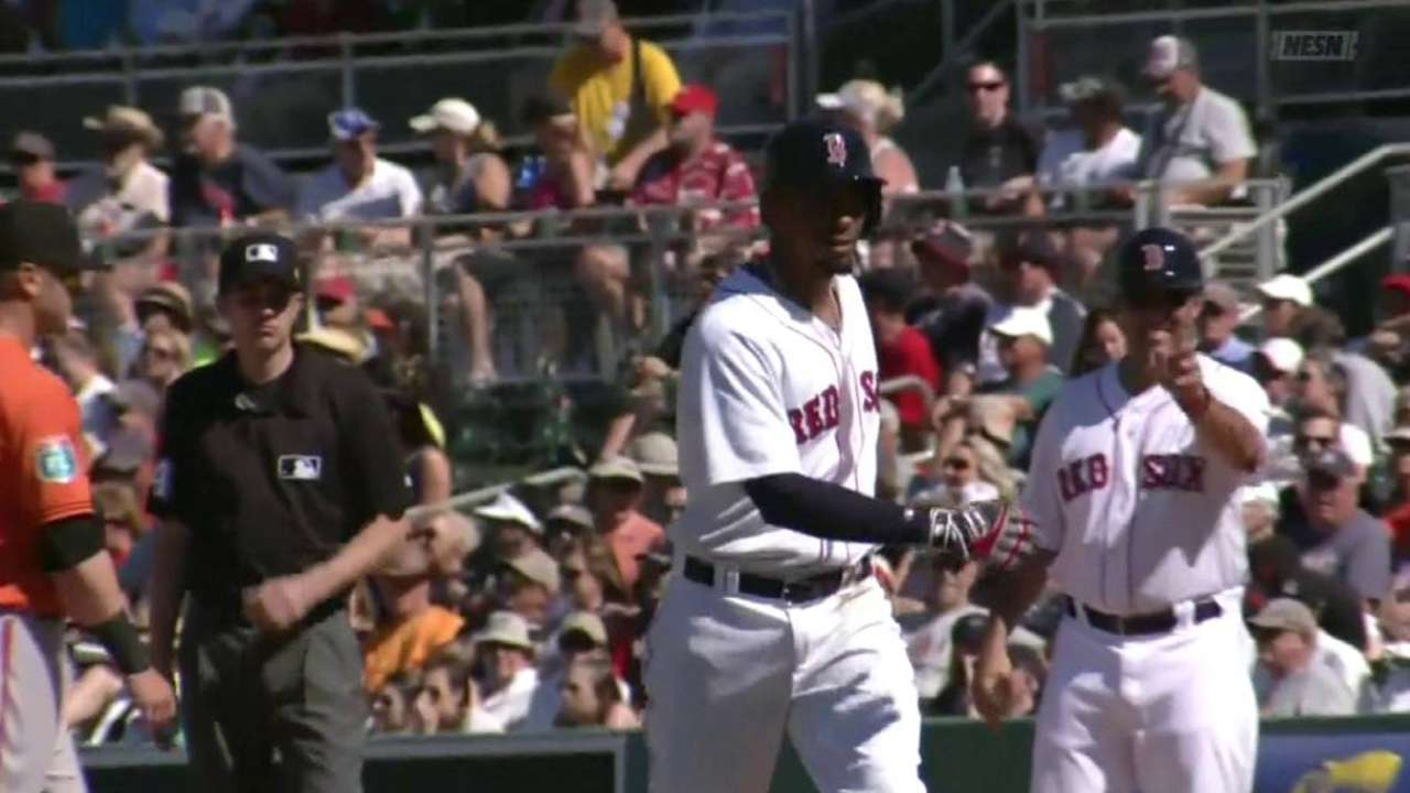 Bogaerts may be Red Sox's cleanup hitter