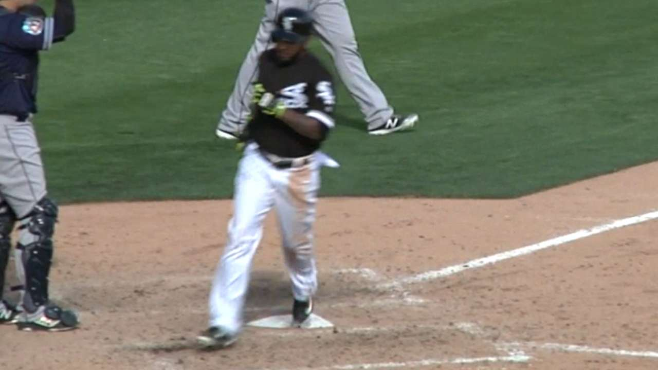 Sanchez's RBI ground-rule double