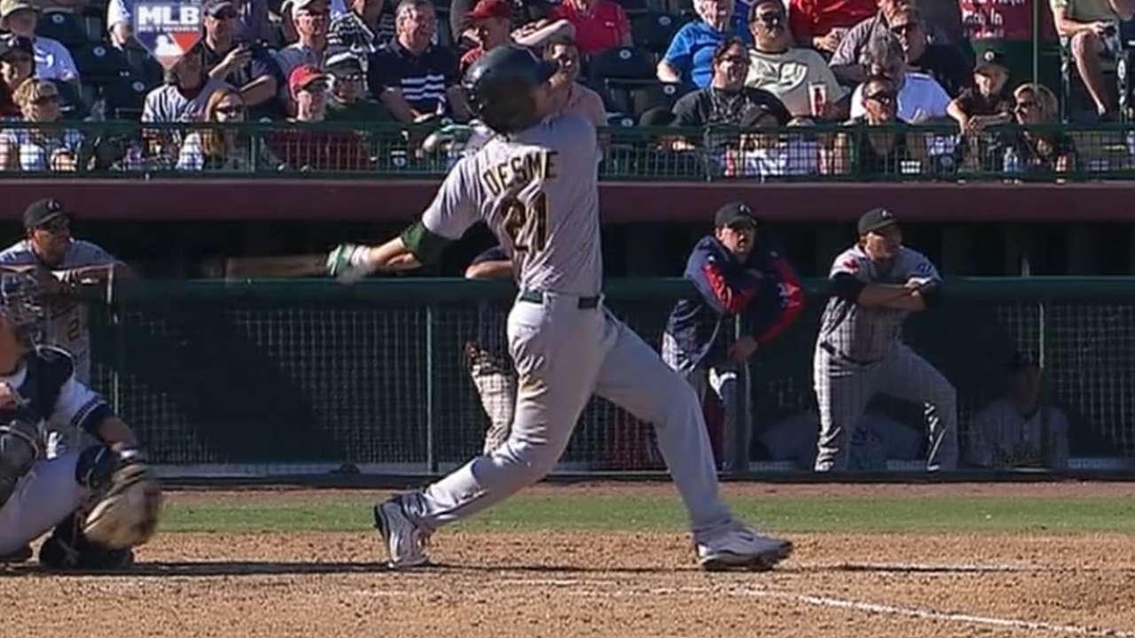 Desme's solo home run