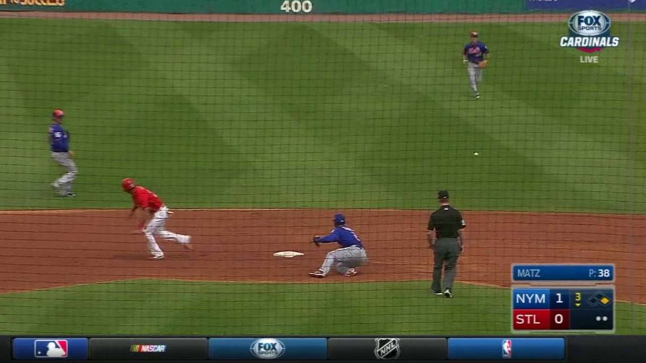 Pham steals second and advances