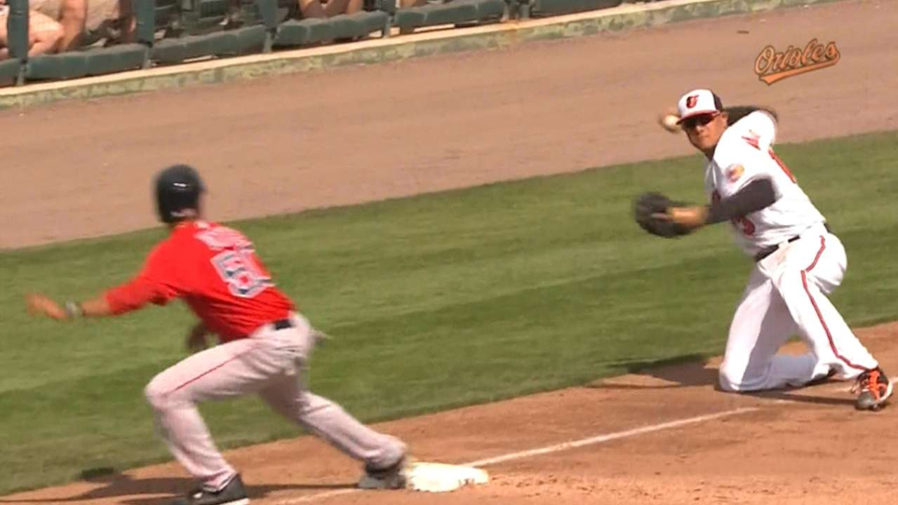 Must C: Machado fires from knees
