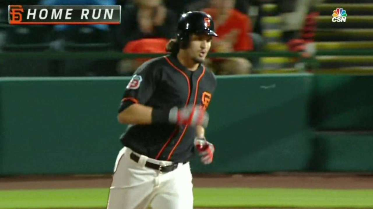 Giants prospects homer against Reds