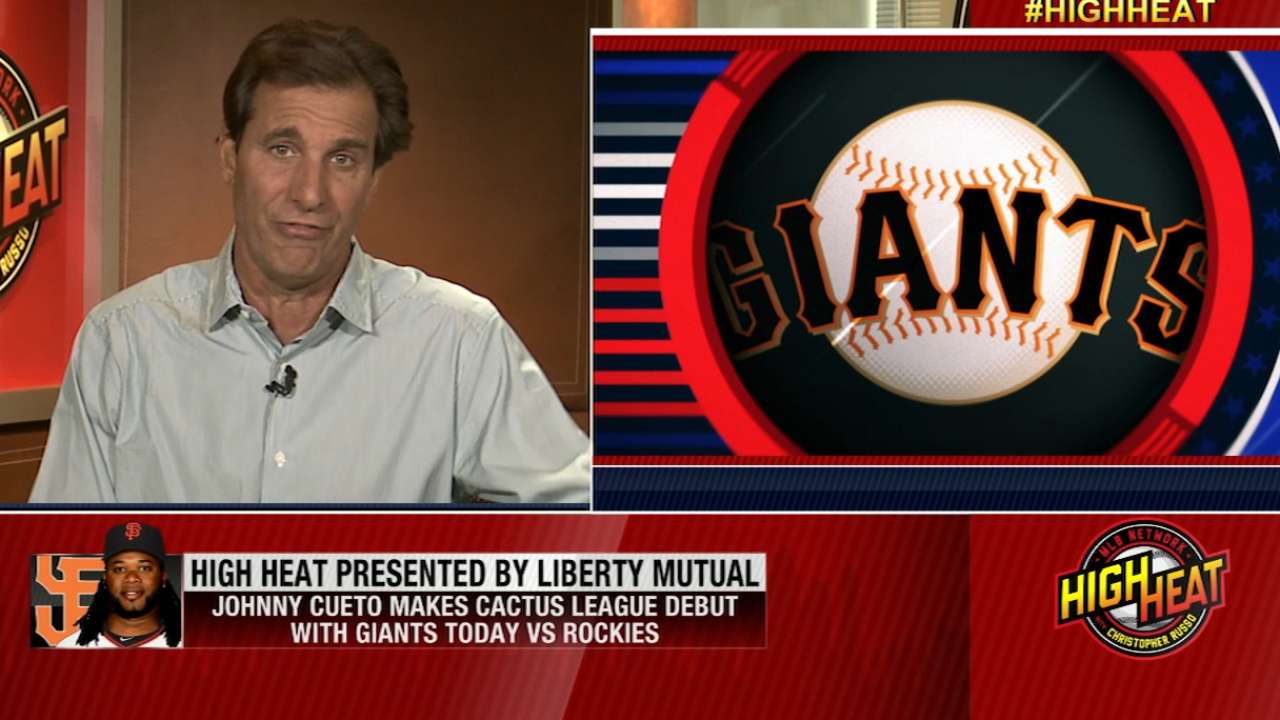 Mad Dog on Cueto, Giants staff