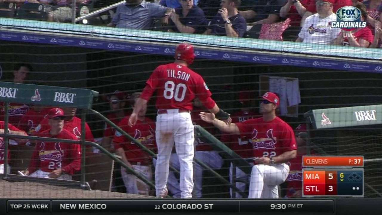 Pham finding his groove, swats first HR