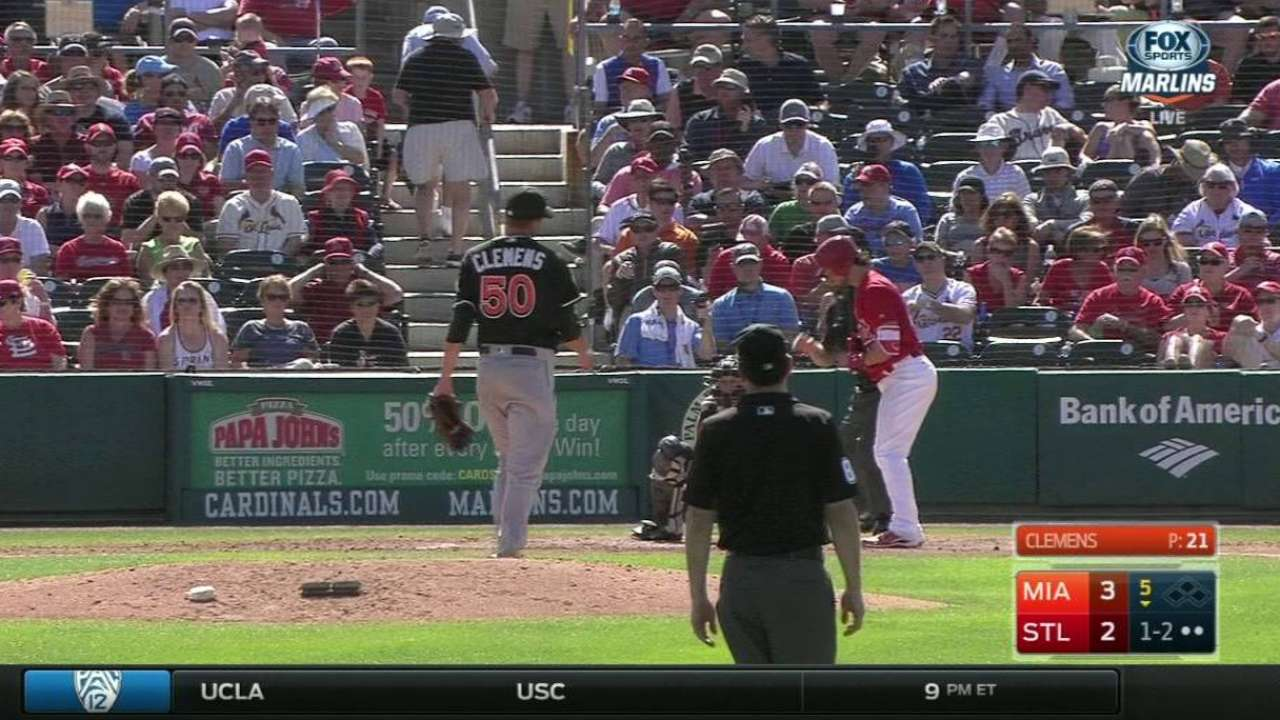 Clemens strikes out Grichuk