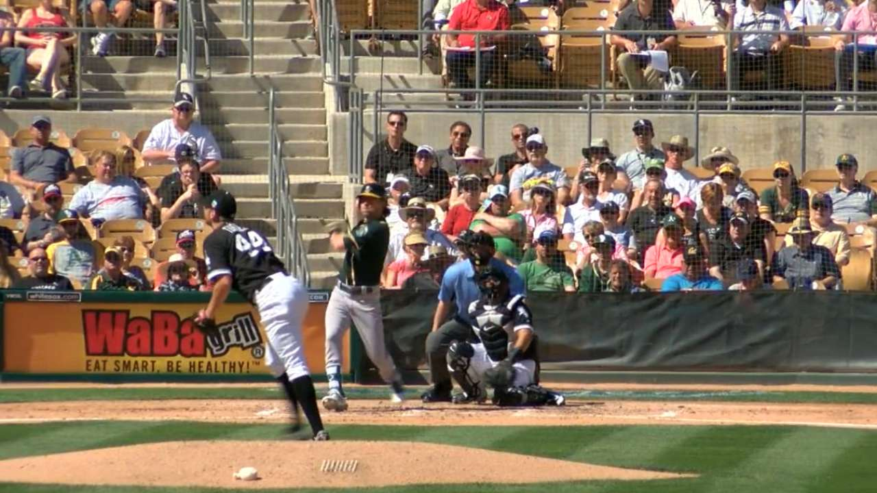 A's hot bats back Gray's debut vs. White Sox