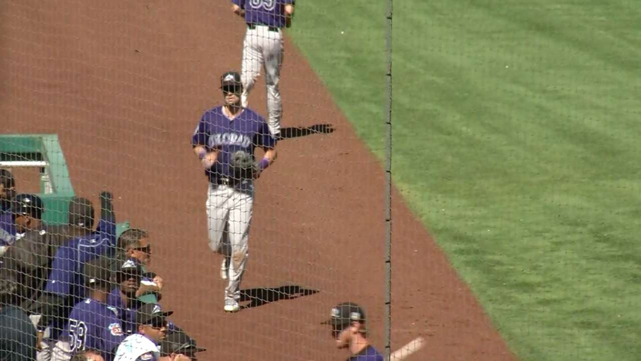 Dahl fitting in -- in Rockies' clubhouse, lineup