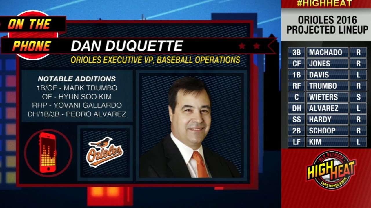 Dan Duquette on potent Orioles