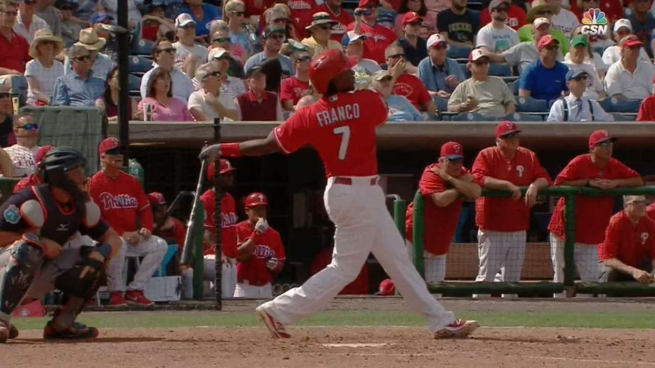 Must C: Franco lifts two homers