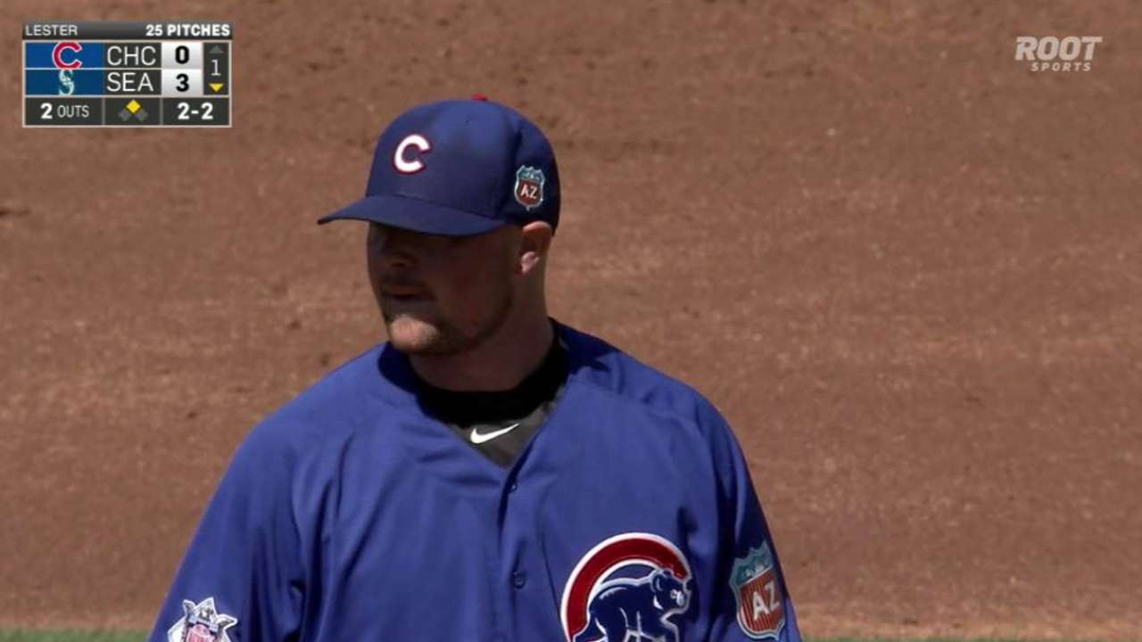 Lester working to improve fielding skills