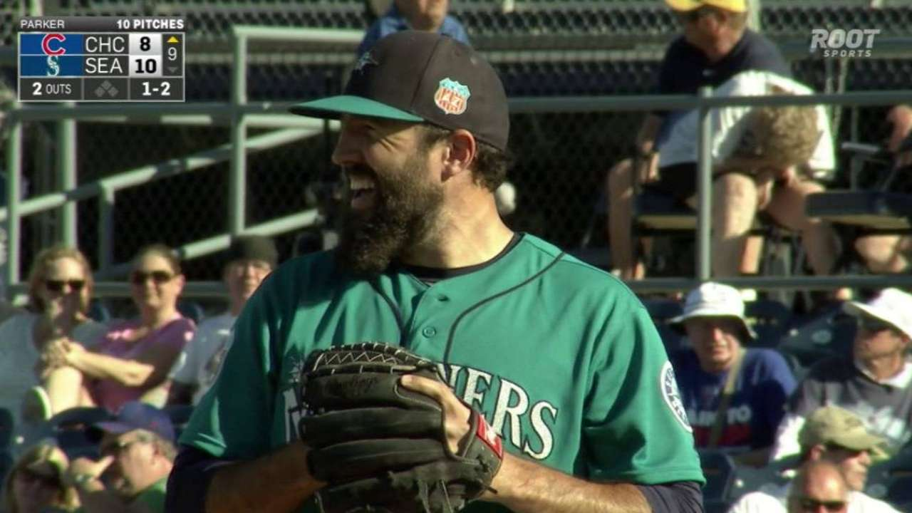Parker elbows way into Mariners' relief picture