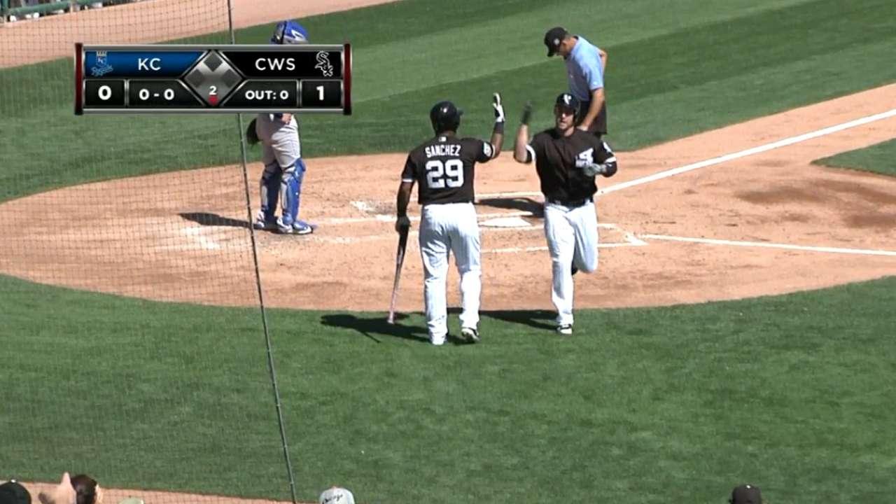 Davidson's solo home run