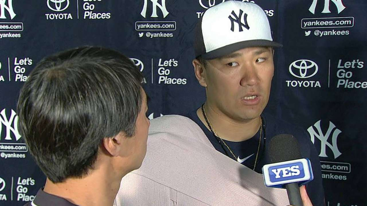Tanaka on his spring outing