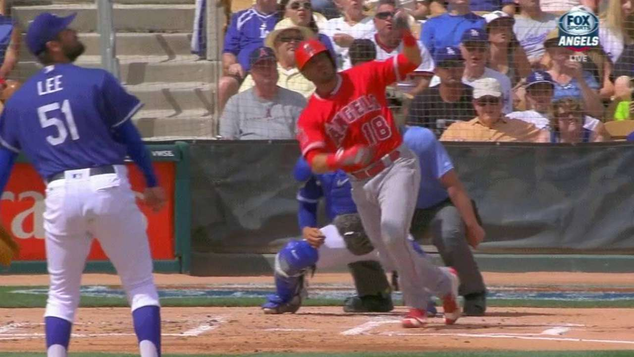 Angels rally against Dodgers' Urias