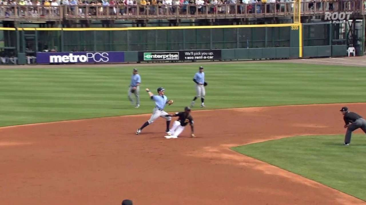Rays turn double play