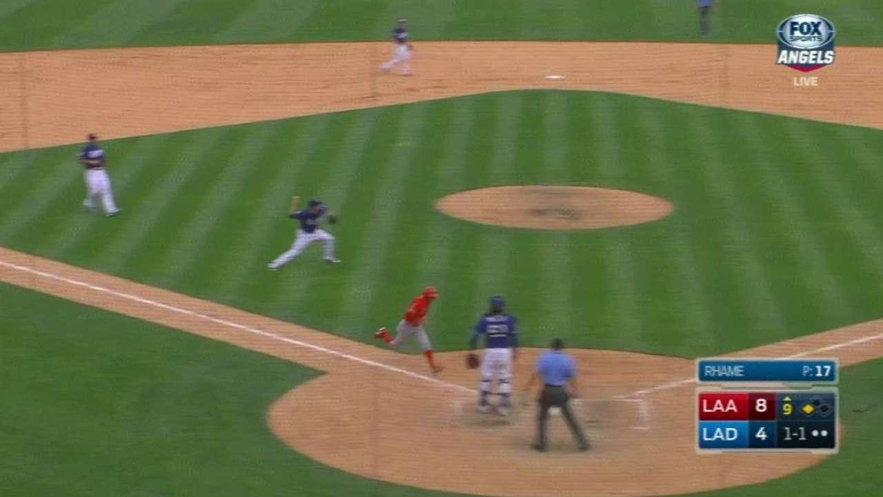 Rhame nabs Ortega at first base