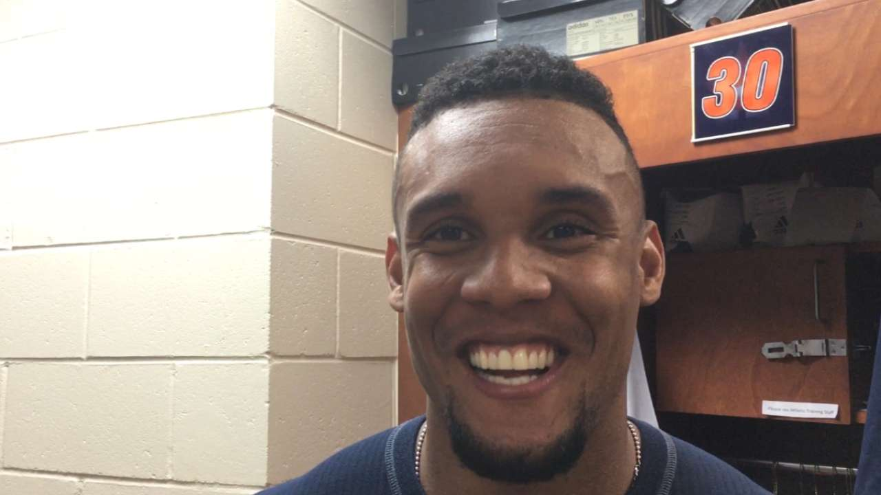 Rasmus, Gomez show young Astros how to suit up