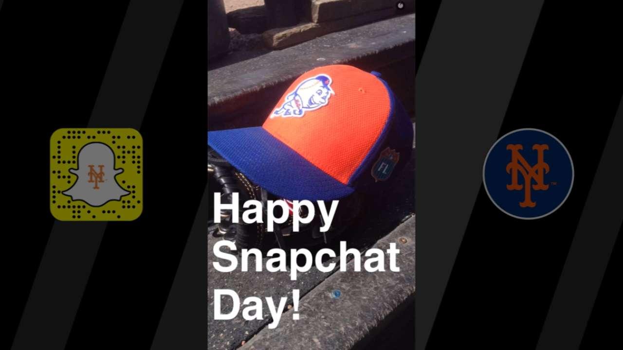 Mets give behind-the-scenes peek on Snapchat