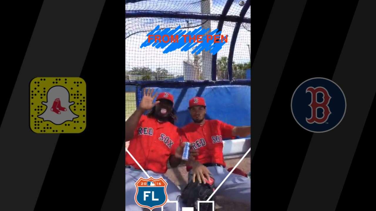 Red Sox celebrate Snapchat Day