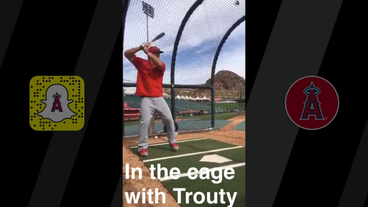 Angels give fans Snapchat tour of spring