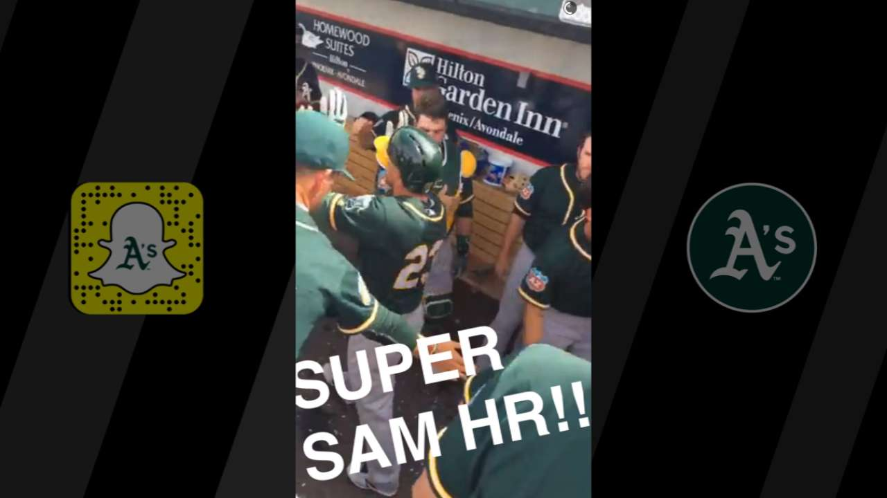 A's share laughs with fans on Snapchat Day