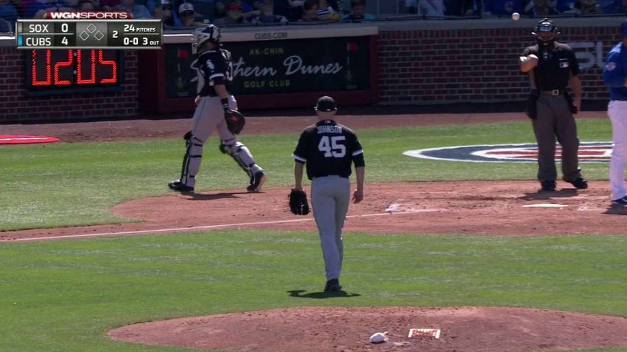 Johnson strikes out Rizzo