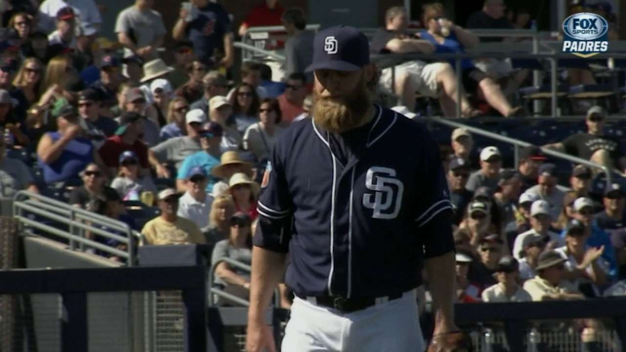 Cashner brings heat in hitless outing vs. Tribe