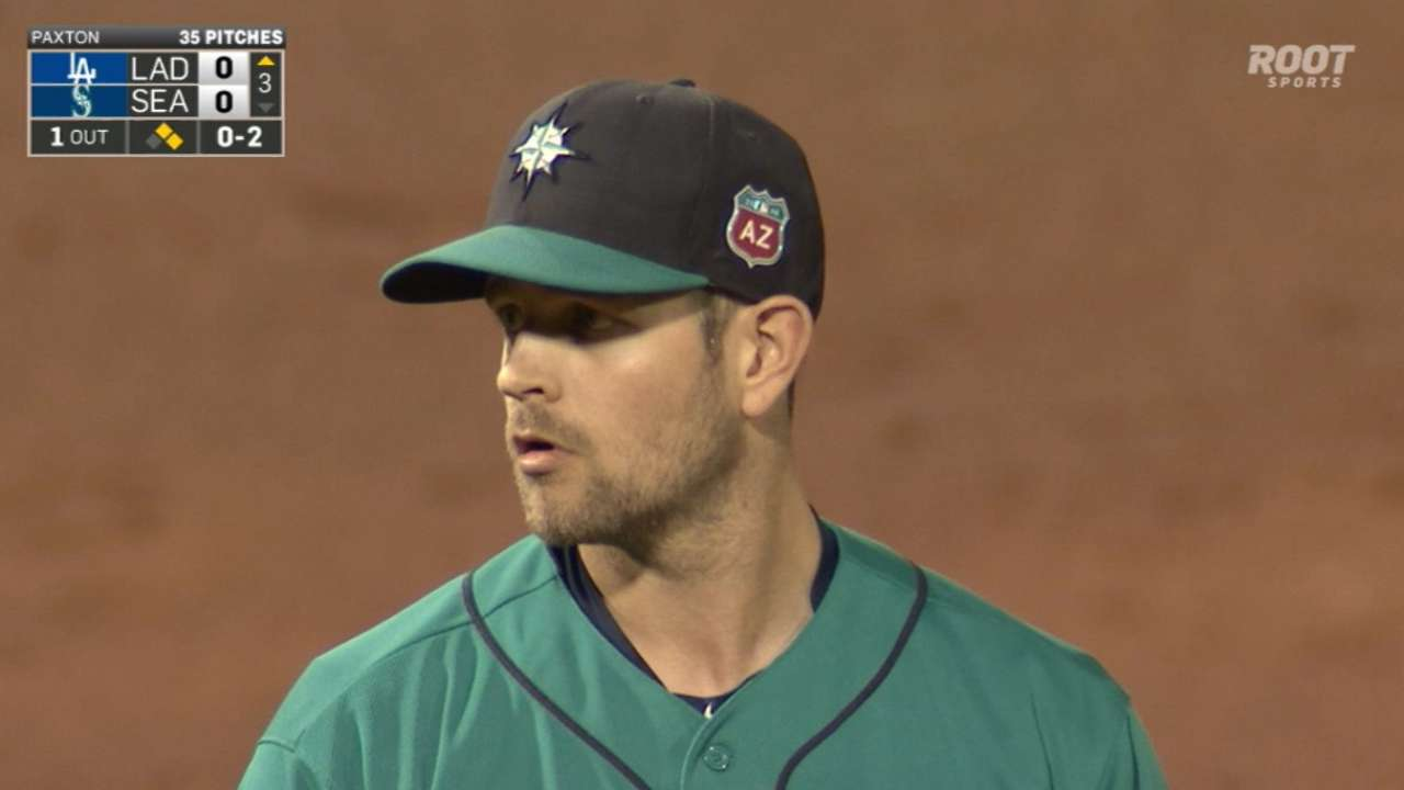 Paxton pitches well vs. Minor League club