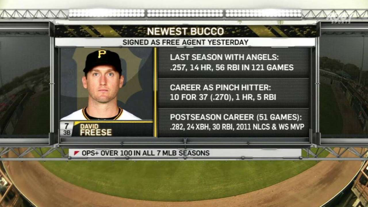 Pirates' broadcasters on Freese