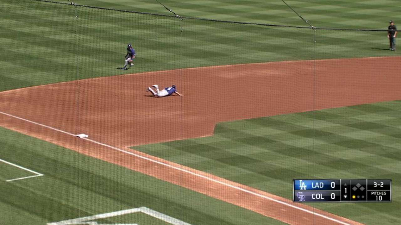 Culberson's diving stop