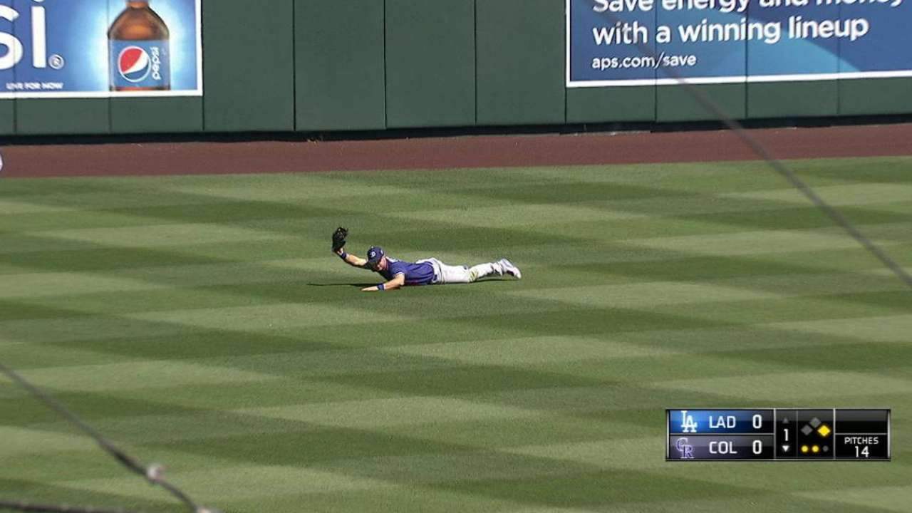 Pederson's fantastic catch