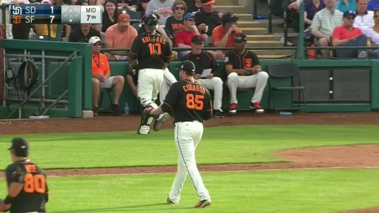 Coonrod gets third strikeout