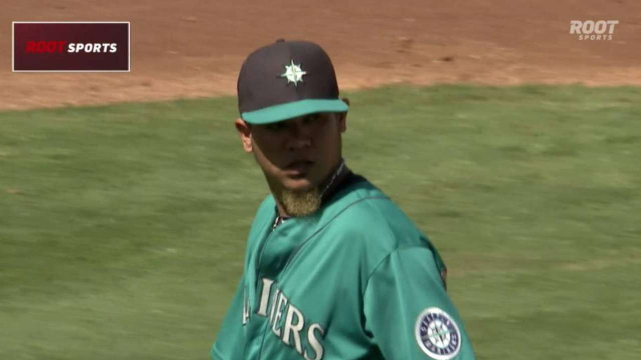 King Felix gets out of a jam